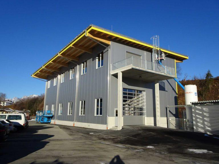 Dachkonstruktion Produktionshalle in Fieberbrunn
