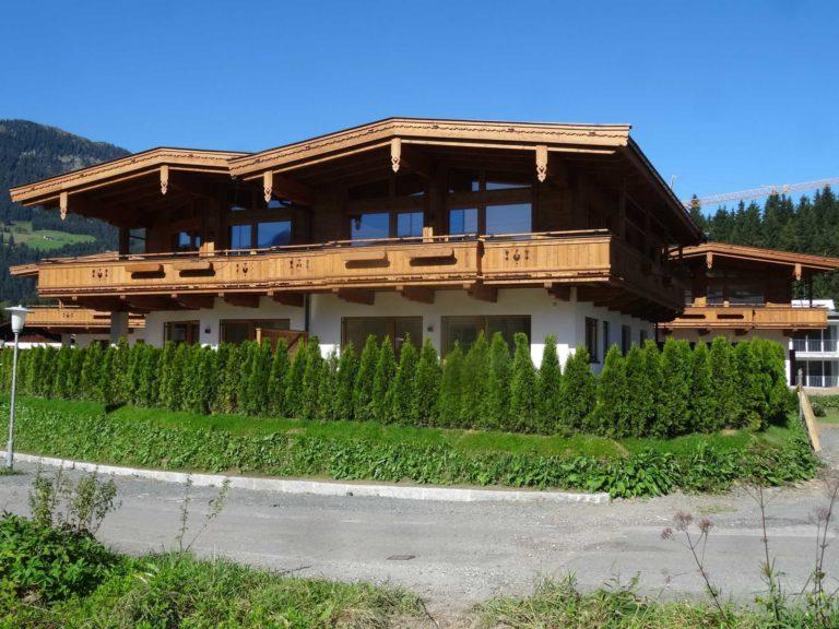 Dachstuhl, Fassade, Balkone in Fieberbrunn
