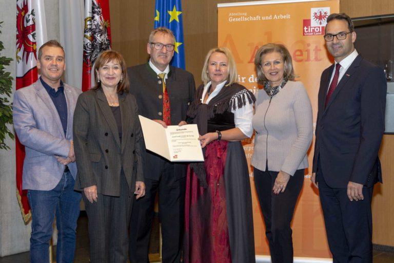 Verleihung Ausgezeichneter Tiroler Lehrbetrieb 2018